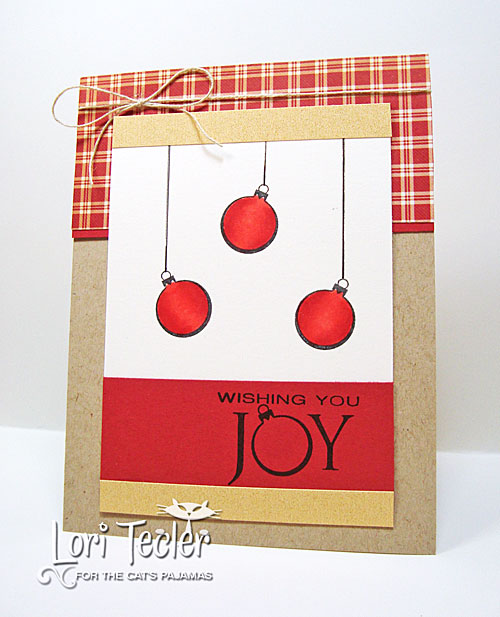 Wishing You Joy card-designed by Lori Tecler/Inking Aloud-stamps from The Cat's Pajamas