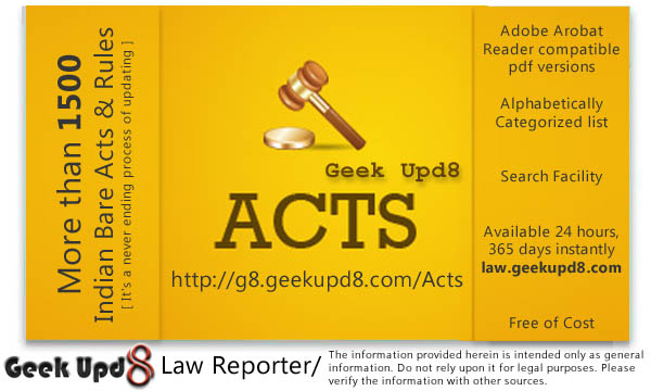 Indian Bare Acts [PDF Downloads] Geek Upd8 Law Repoter