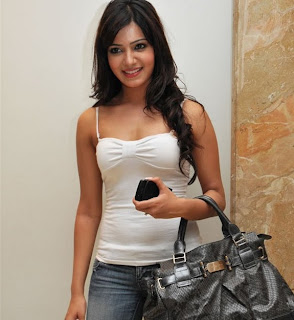 samantha in white top cute