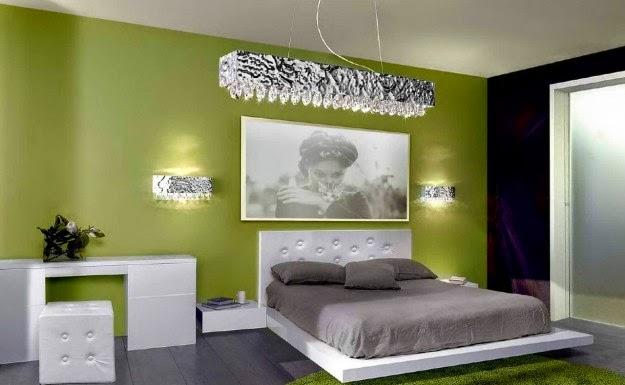 Dormitorios en verde y gris dormitorios colores y estilos for Color de pared para dormitorio