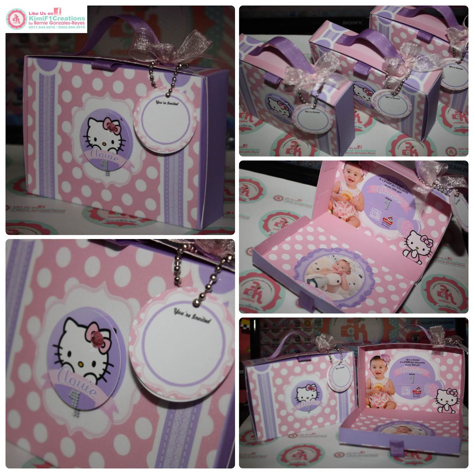 Hello Kitty Suitecase Unique Invitation by KimiF1Creations