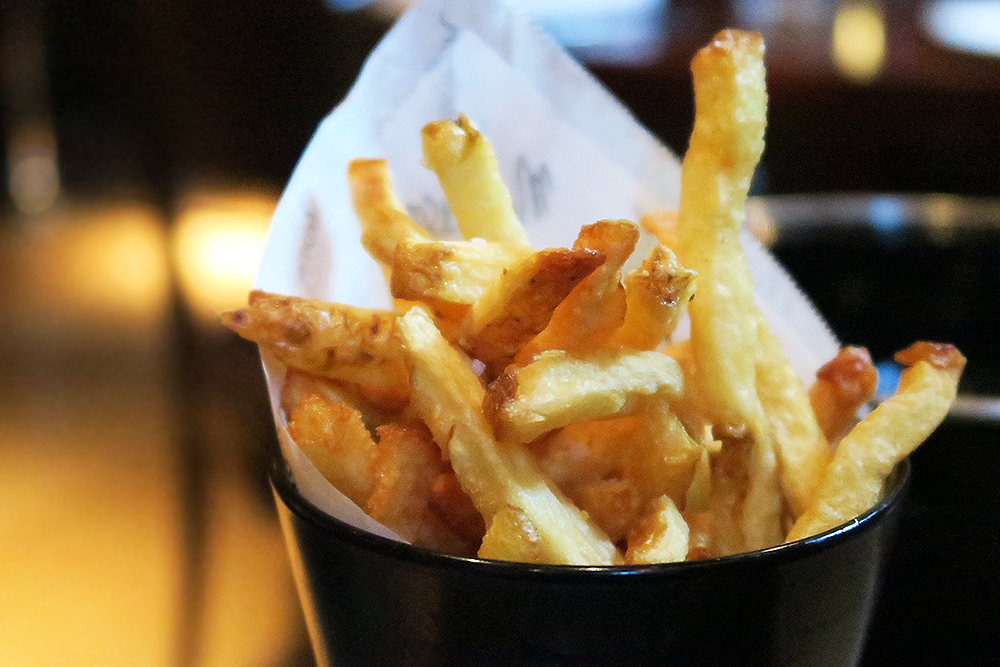 Fries with the Moules Frites at the Malmaison Leeds Brasserie
