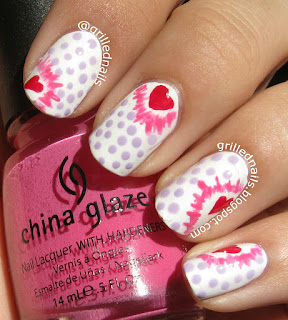 nailartfeb february nail art manicure nails heart hearts dots pop art hector alfaro grillednails grilled nails