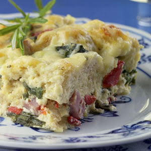 ham cheese breakfast casserole 5155 ss - 5 healthy Easter brunch ideas