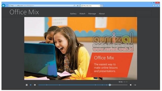 Dengan fitur tersebut Office Mix tentu saja menjadi solusi bagi siapa saja yang ingin mengajar dan mempresentasikan suatu materi dengan lebih jelas, menarik, dan interaktif. Presentasi tersebut juga bisa dibuka di semua device hanya melalui browser dengan koneksi internet.