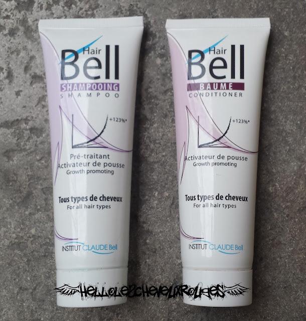 Présentation des produits Hair Bell le shampoing et le baume après shampoing Hellolescheveuxrouges