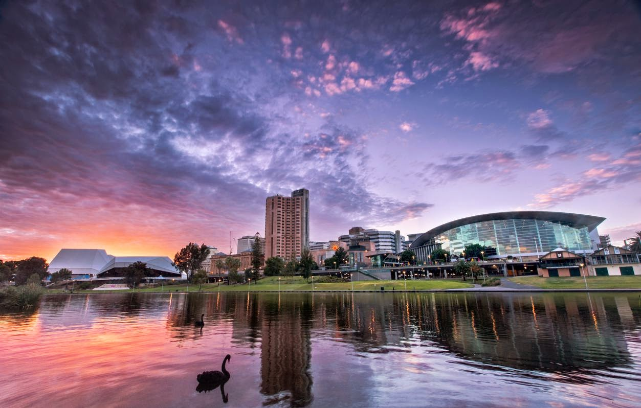 The waterfront area of Adelaide, on the River Torrens. Credit Ben Goode/Alamy   On the southern coast, art, food and more.
