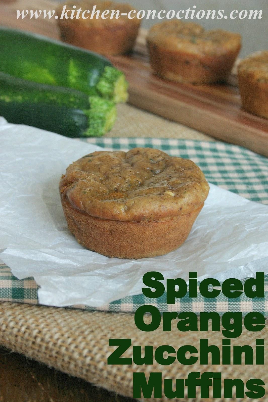 Spiced Orange Zucchini Muffins - Kitchen Concoctions