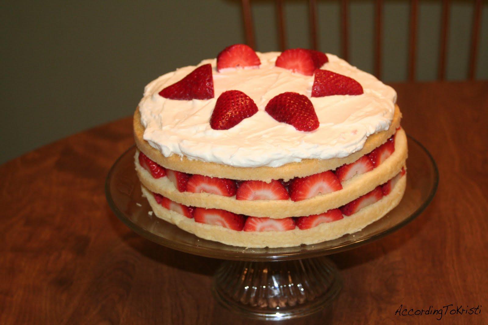 with strawberries strawberries and cream sponge strawberry cream cake ...