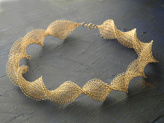 Knitting Patterns For Premature Baby Clothes : Wire Knit Jewelry by Yoola ~ The Beading Gems Journal