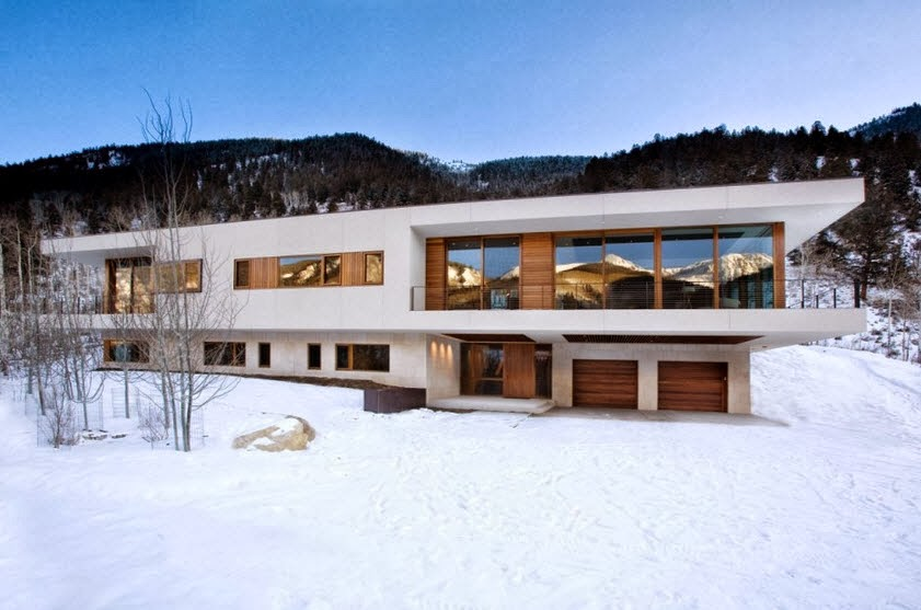 Planos y dise o de casa moderna especial para climas fr os for Casa moderna en la montana