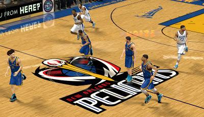 NBA 2K13 New Orleans Pelicans Court Logo & Jerseys