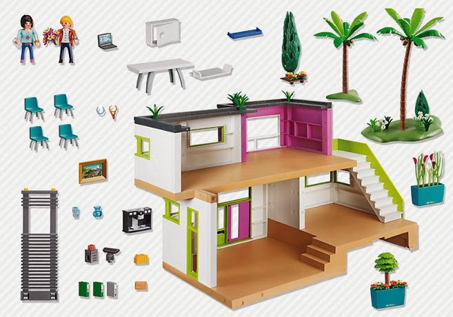 Libros y juguetes 1demagiaxfa juguetes playmobil city for Casa moderna de lujo playmobil