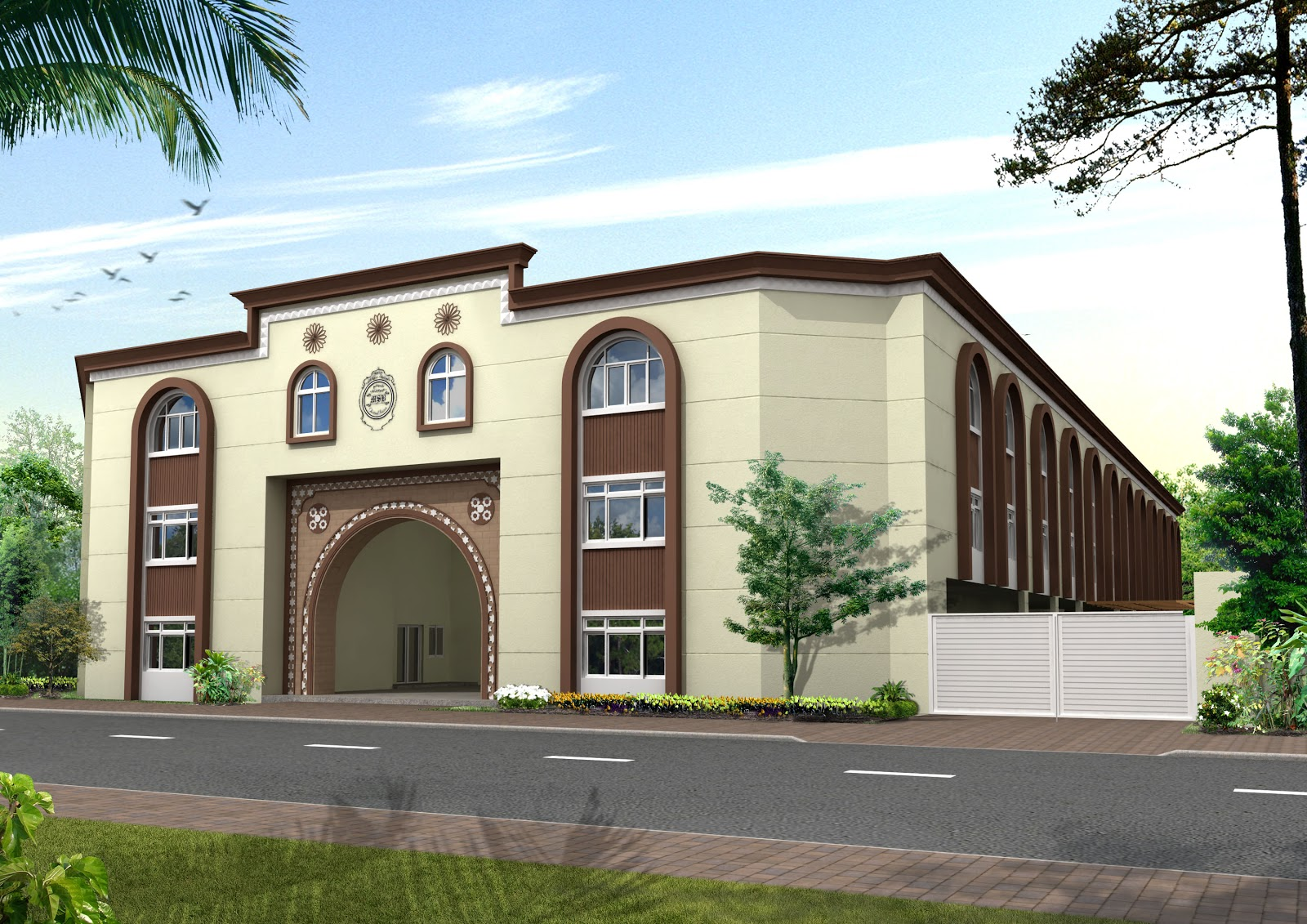 D Front Elevation Of School : Msb haidery karachi project front elevation