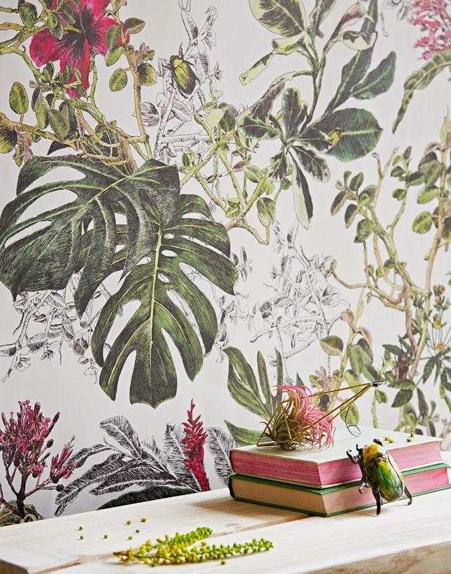Behang botanisch
