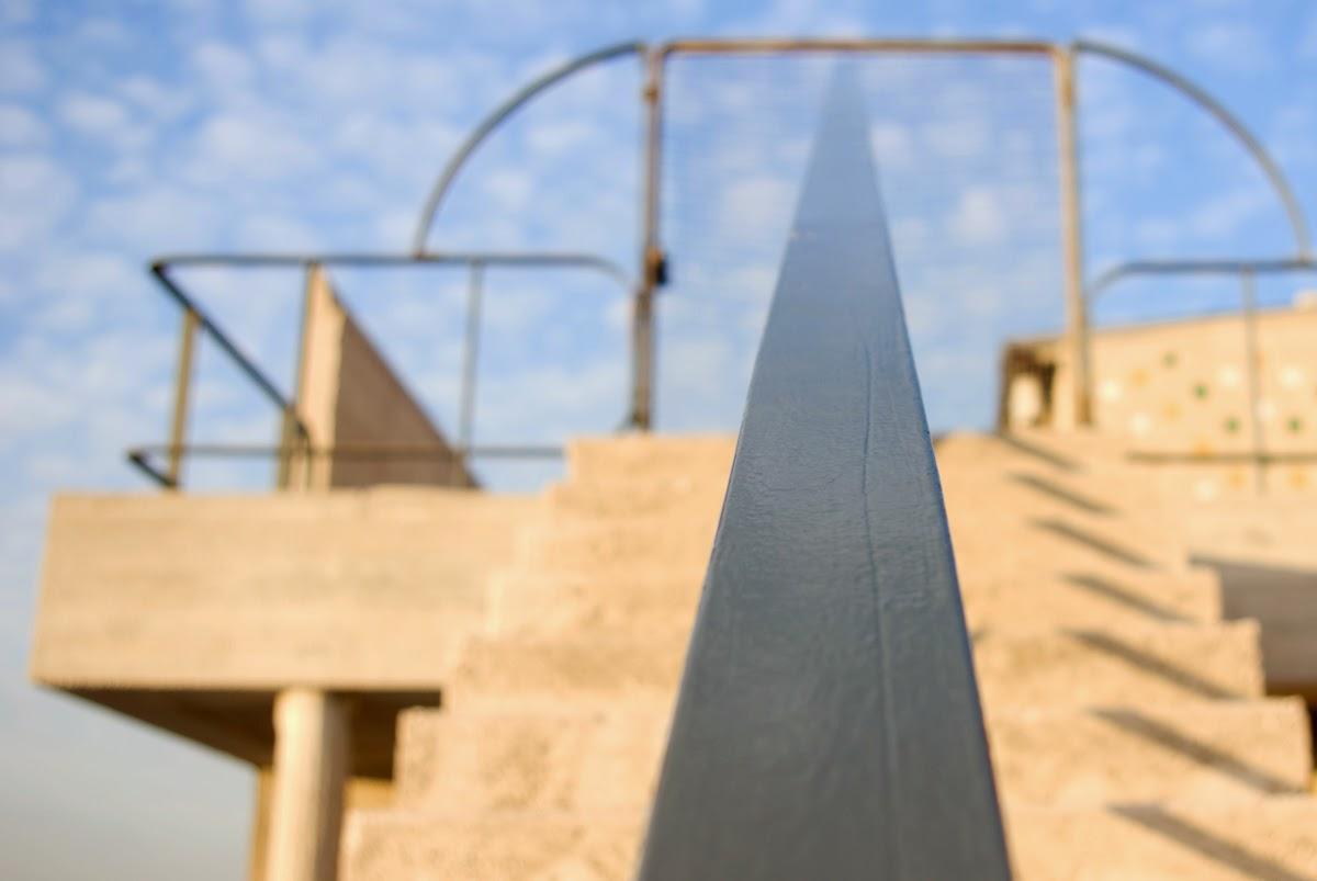 Крыша-терраса Лучезарного дома Ле Корьбюзье в Марселе