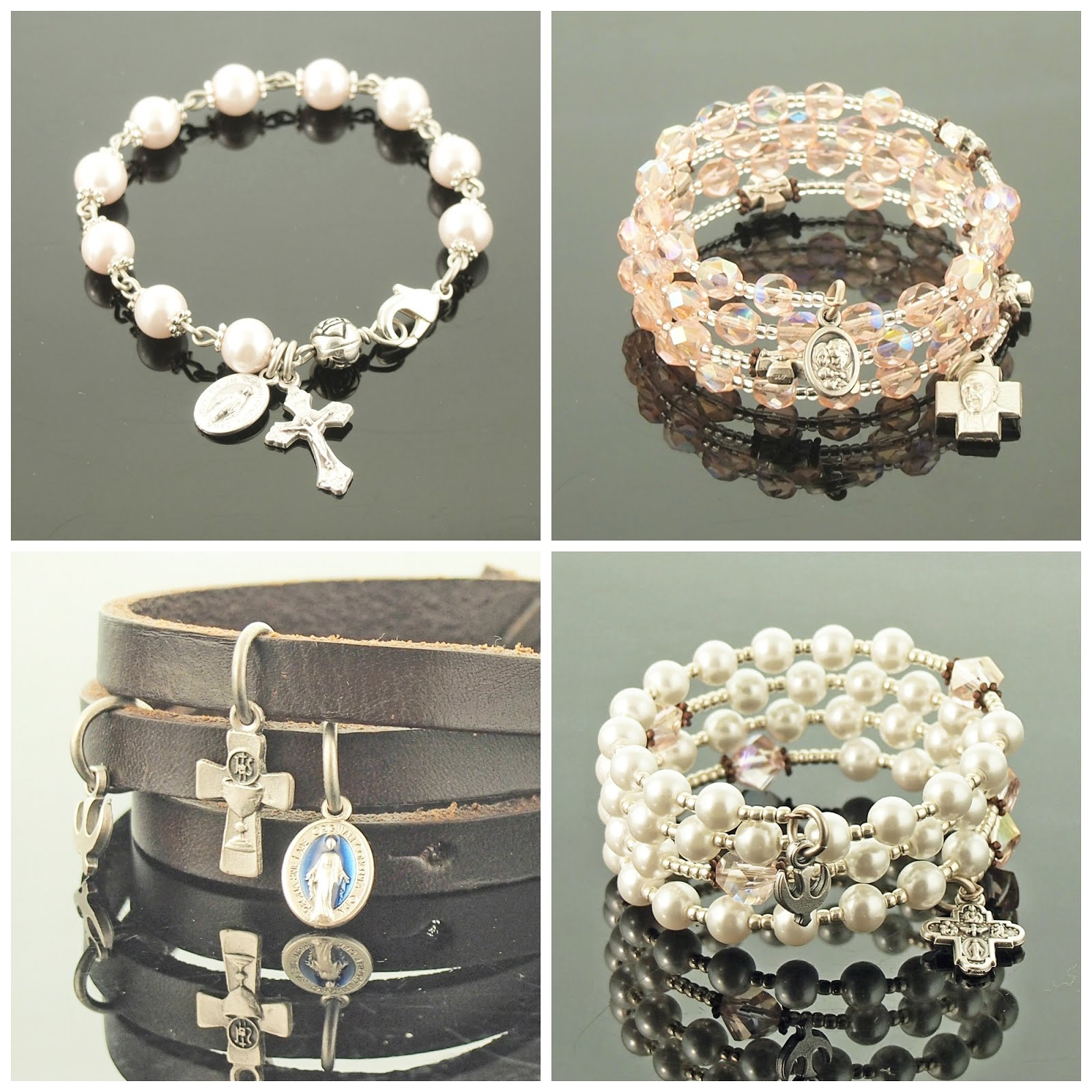 First Holy Communion Bracelets/Catholic Rosary Bracelets, Tenner Chaplets