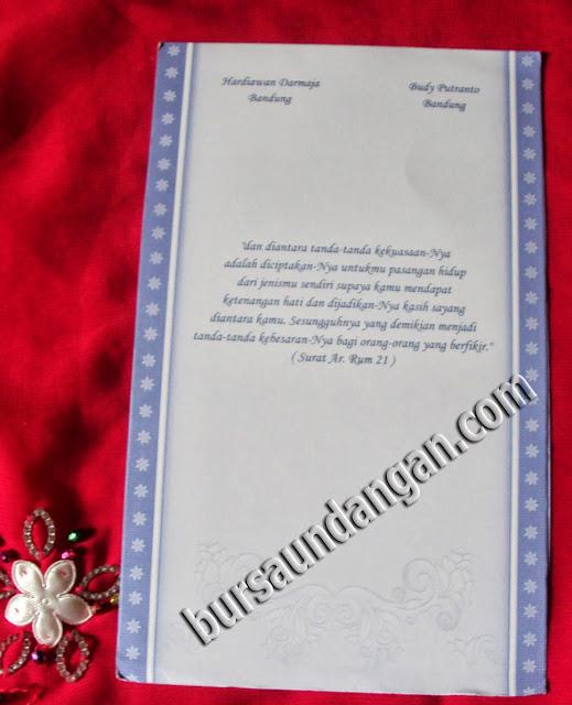 Desain kartu undangan pernikahan murah model blanko dengan tampilan ...