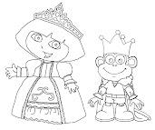#3 Dora Coloring Page