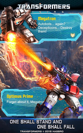 Screenshots of the Transformers: Rising for Android tablet, phone.