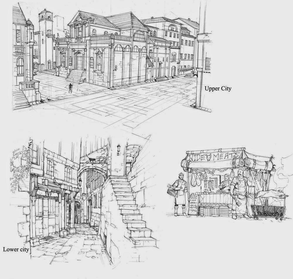 sketch of Baldur's Gate