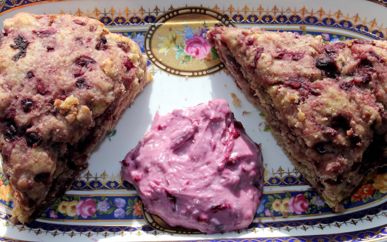 Grain Crazy: Whole Wheat Ricotta Boysenberry Scones
