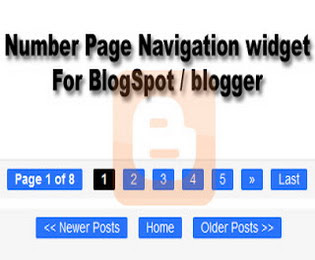 Number Page Navigation Widget For Blogger