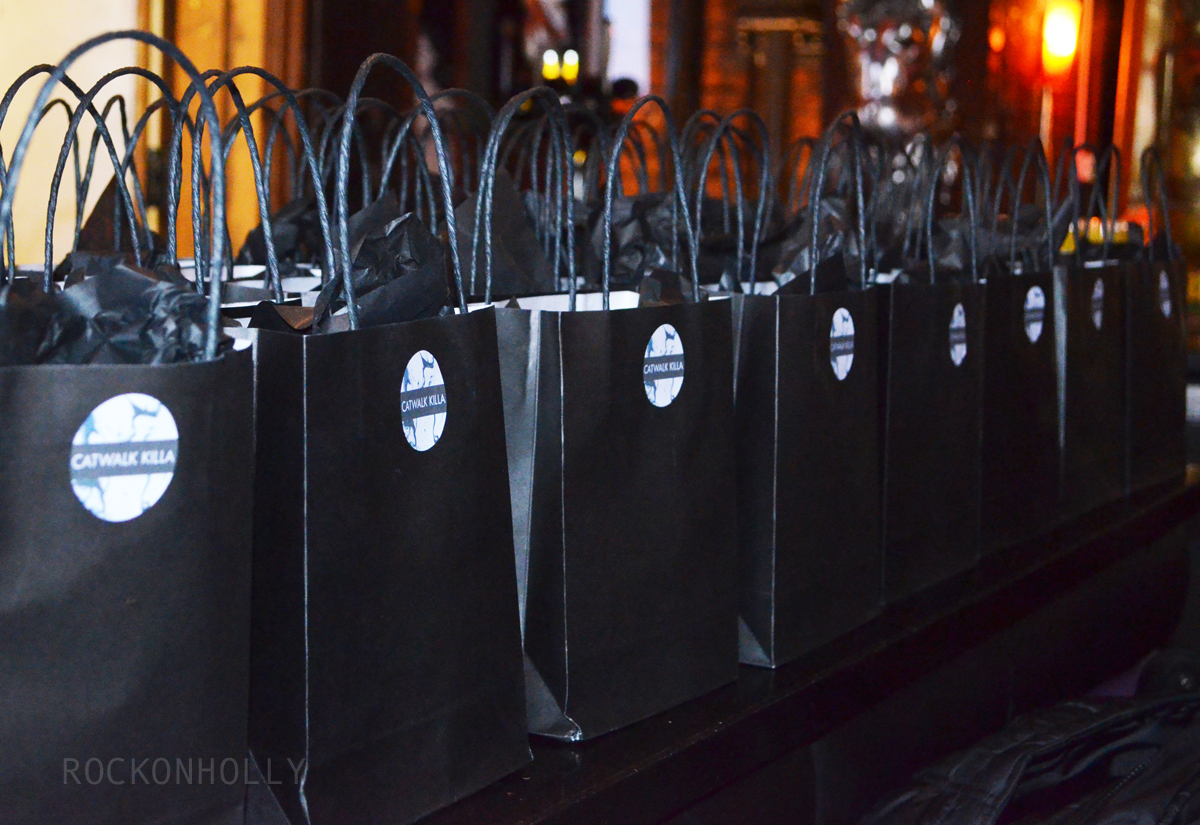 Catwalk Killa Launch Party Gift Bags