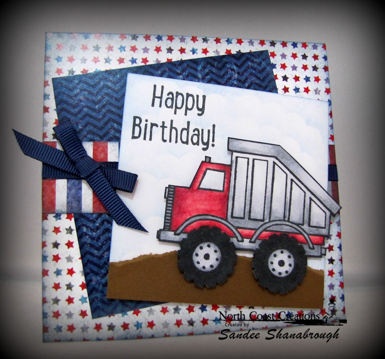Stamps - North Coast Creations Dump Truck Birthday, Our Daily Bread Designs Patriotic Paper Collection