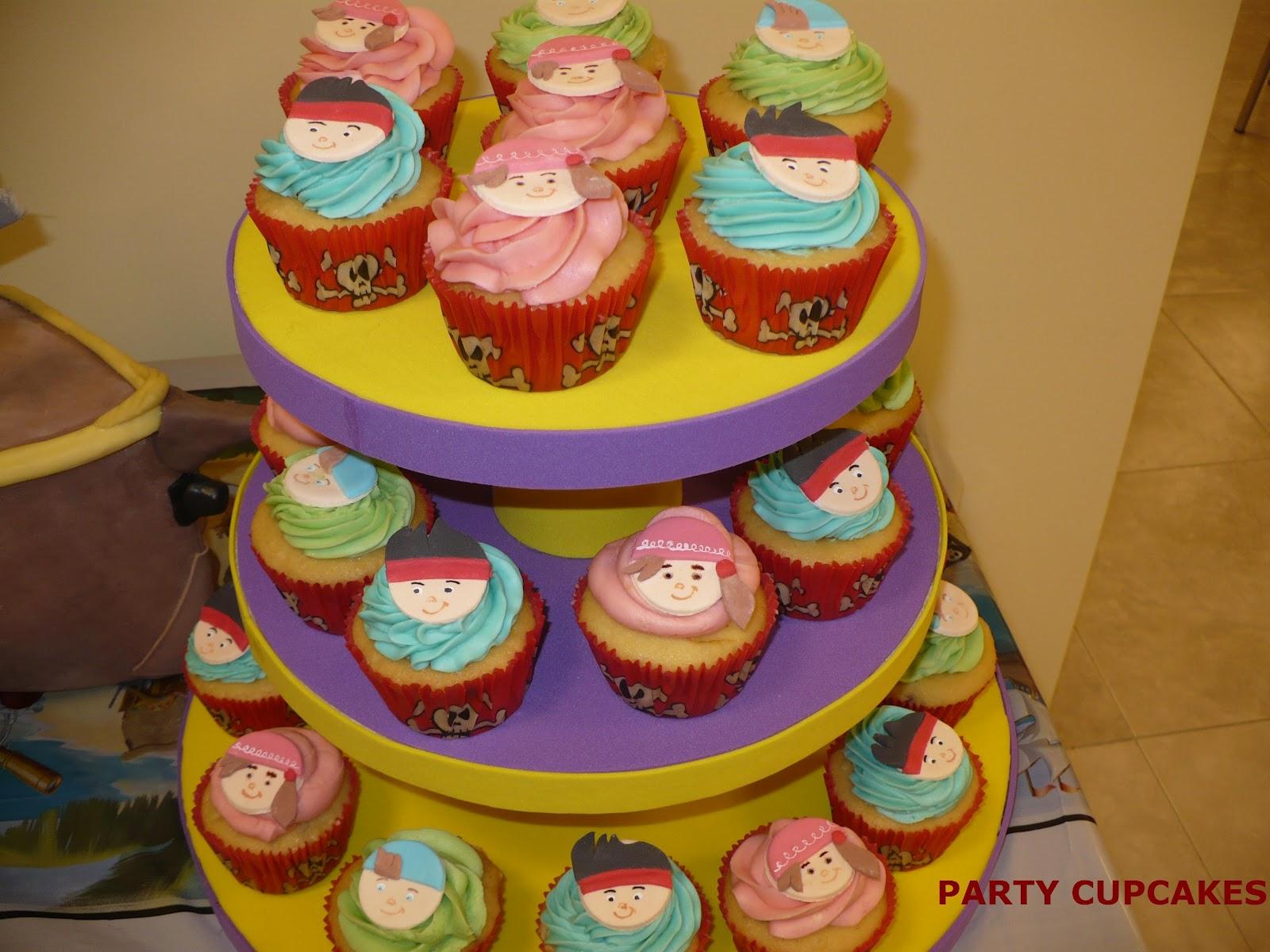 Cupcakes Con La Tem  Tica De Piratas De Nunca Jam  S De Disney