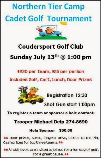 7-13 Camp Cadet Golf Tournament