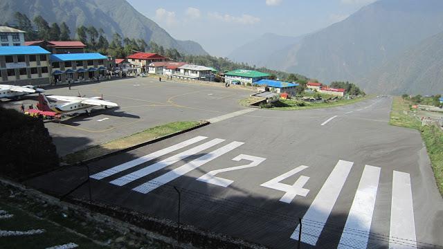 Tenzin hillary airport in Lukla