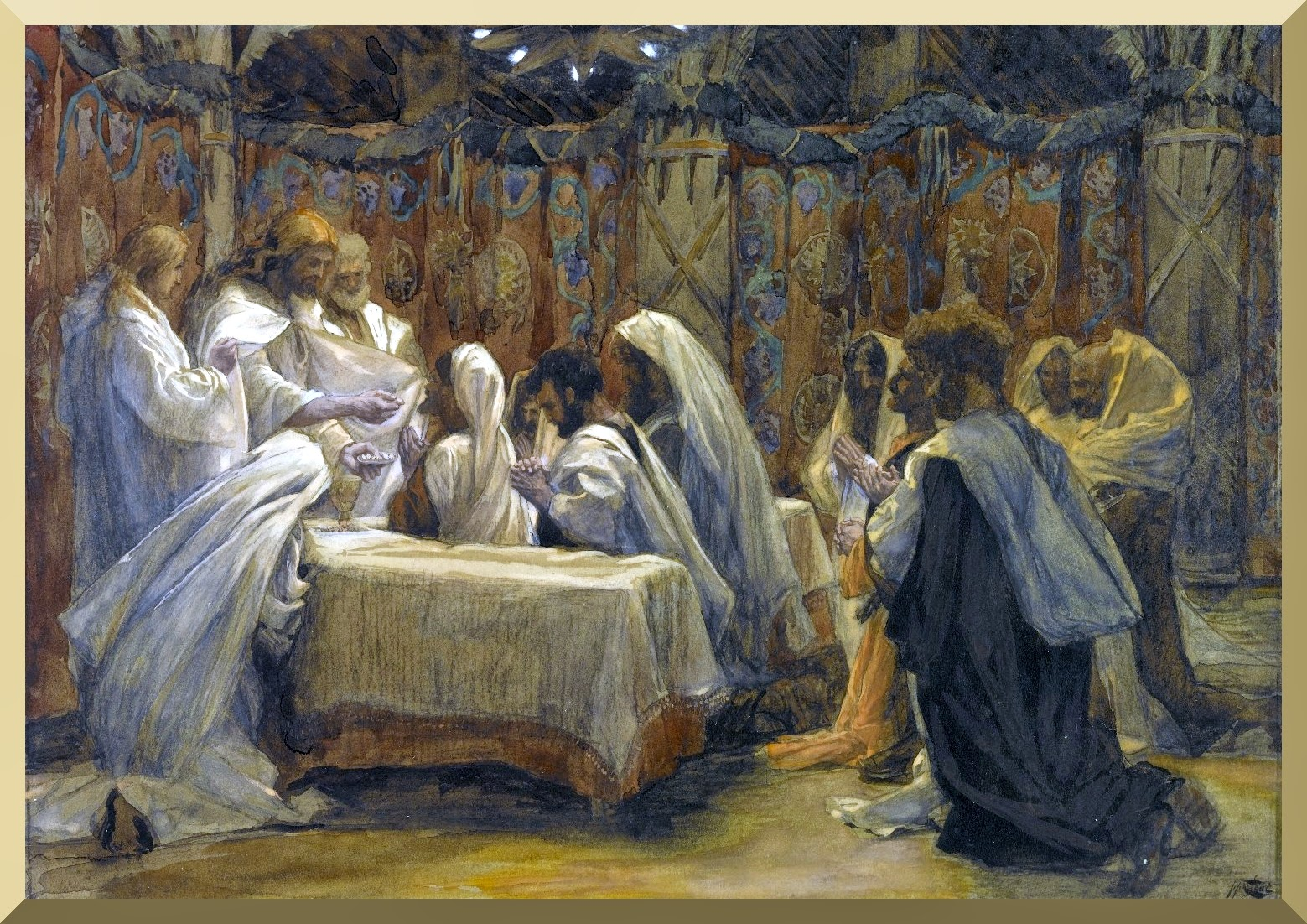 """The Communion of the Apostles"" -- by James Tissot"