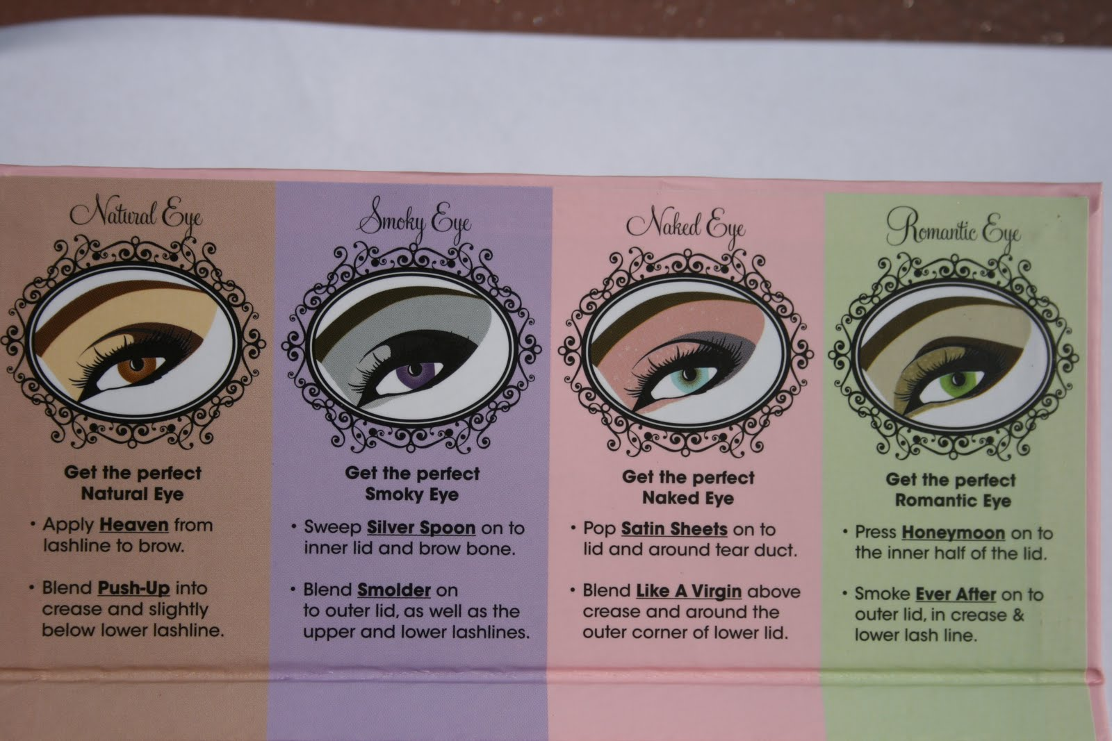 Sasha says too faced eye love eyeshadow palette also included on the inside is a diagram showing you an example for each look ccuart Images