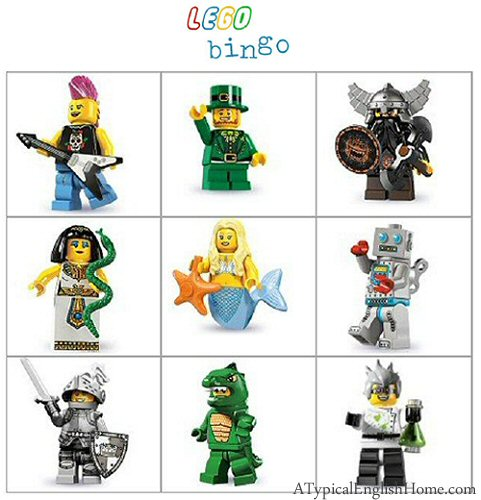 A Typical English Home: Freebie Thursday: Lego Party Games Printables