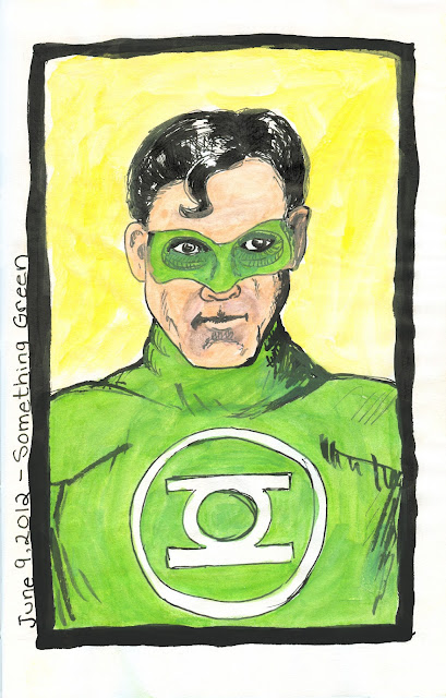 Green Lantern drawing by © Ana Tirolese