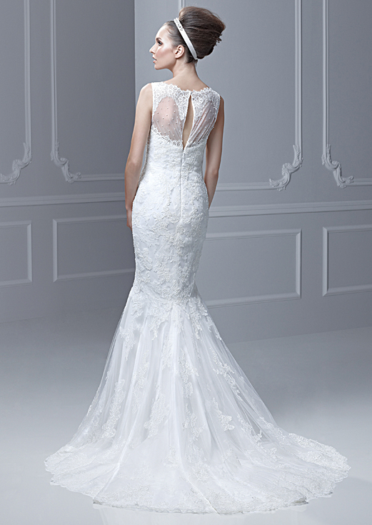 Lace Sweetheart Backless Mermaid Wedding Dress