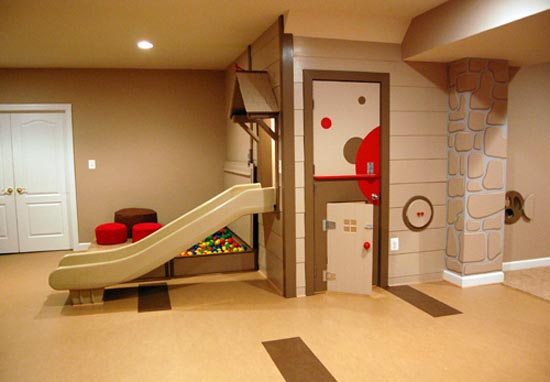 Amazing tips to your daily life fun kids room decorating for Playhouse interior designs