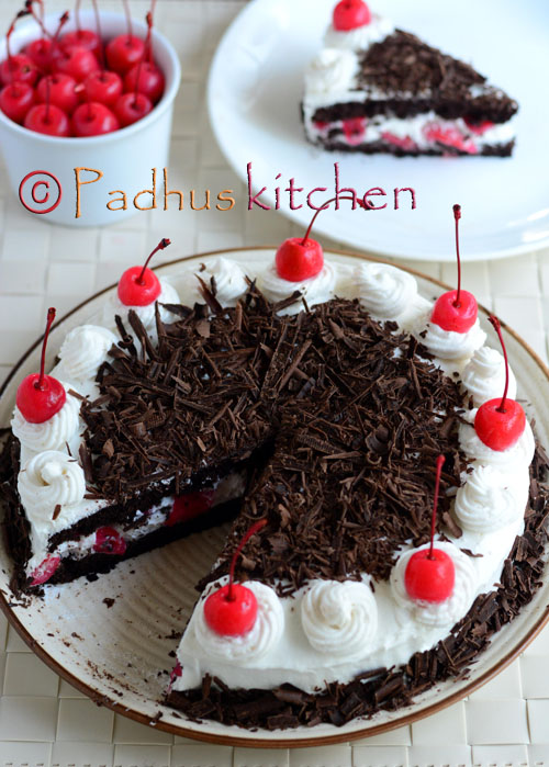 White Forest Cake Red Ribbon
