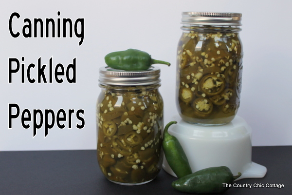 Canning Pickled Jalapeno Peppers - * THE COUNTRY CHIC COTTAGE (DIY ...