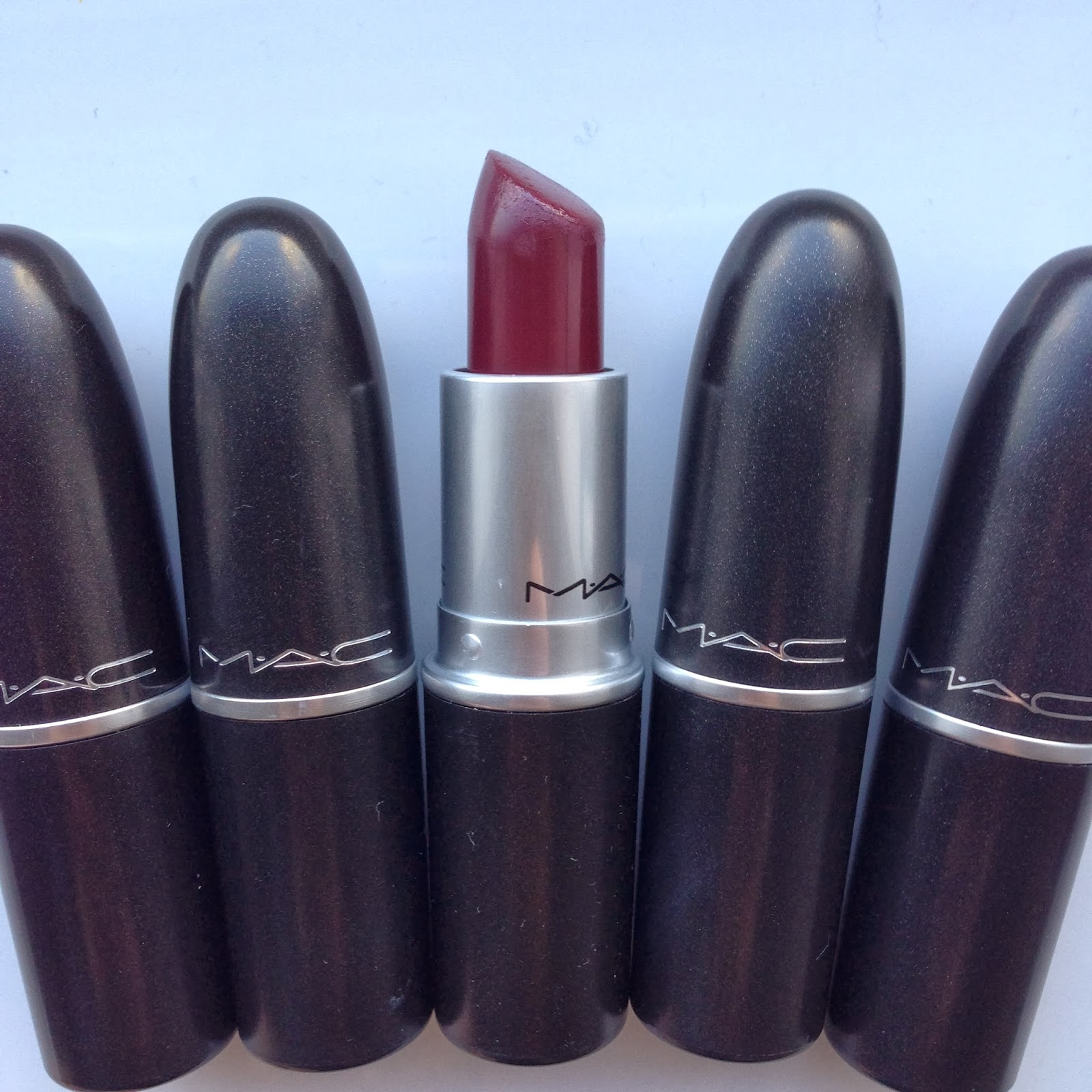champagne tote: MAC Dark Side Lipstick Review