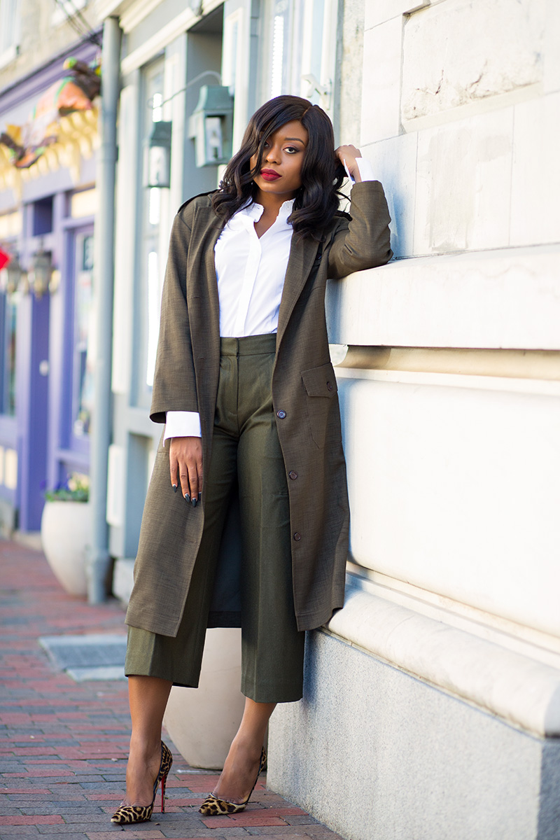 Jcrew pants, asos military maxi blazer,  www.jadore-fashion.com