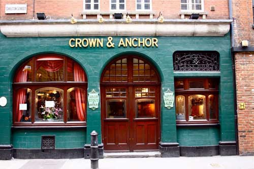 Crown & Anchor Covent Garden, London.