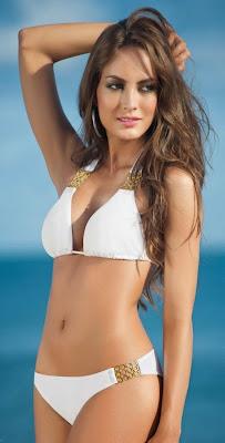 Macri Elena Vélez Sánchez hot bikini body in Sandoratto sexy swimwear models