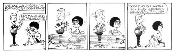 Mafalda jugando al gobierno 1