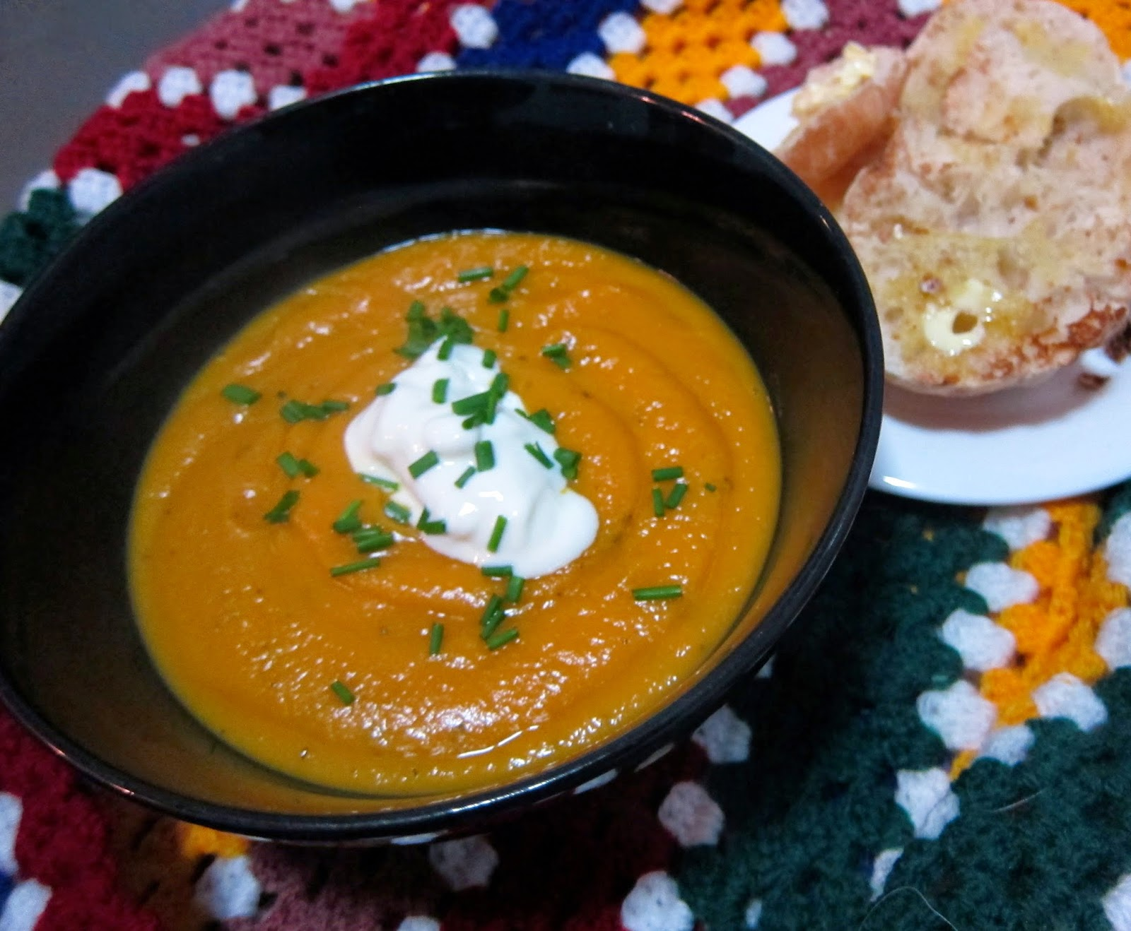 roast pumpkin garlic kumara soup recipe