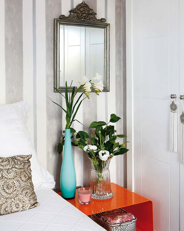 laranja na decoração, como usar laranja no quarto de casal