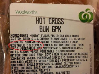 Hot cross buns contain palm oil