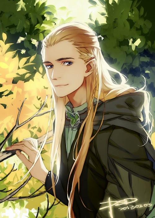 Suddenly, Legolas fan art from Japan.