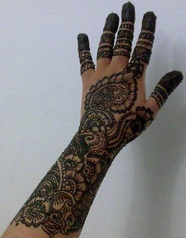 Mehndi For Full Hand : New bridal full hand mehndi design